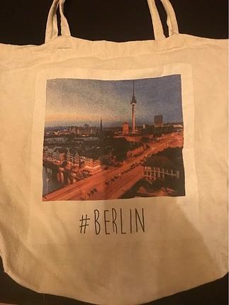 Berlin desenli Askılı kullanışlı Çanta