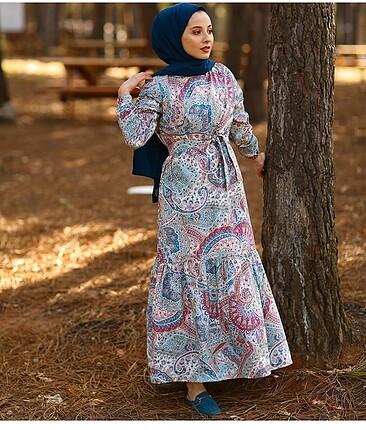 Yazlık pamuklu kumaştan elbise