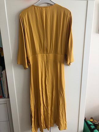 Koton Sarı Midi Boy Elbise
