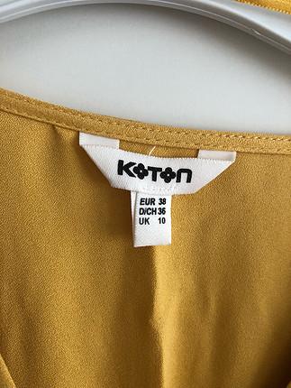 38 Beden Sarı Midi Boy Elbise