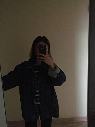 Büyük beden kot ceket
