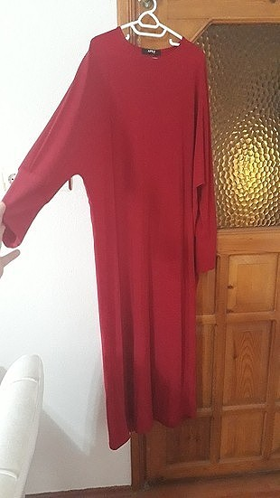 kirmizi elbise tunik