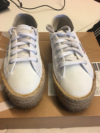 Superga hasır taban beyaz 36 numara sneakers