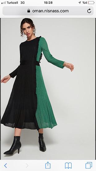 İpekyol midi elbise.