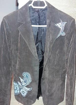 Kahverengi kadife ceket