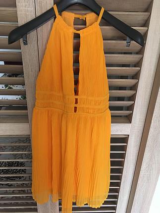 Sarı turuncu karışımı H&M elbise SIFIR