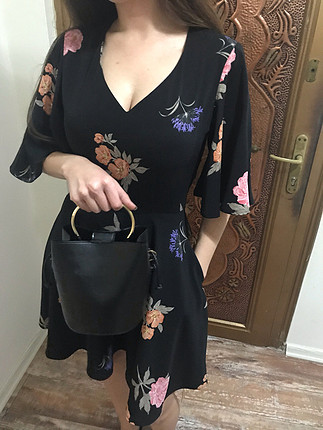 s Beden çeşitli Renk Çiçek desenli elbise