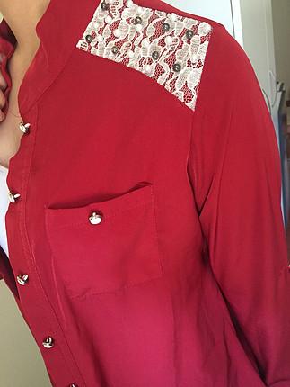38 Beden kırmızı Renk Kırmızı gömlek