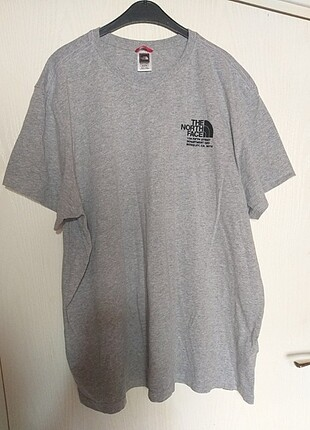 The North Face orijinal tişört gri erkek oversize vintage
