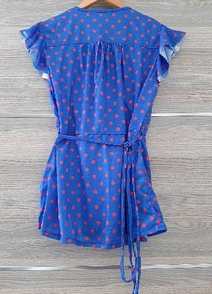 Diğer Mavi Puantiyeli Bluz
