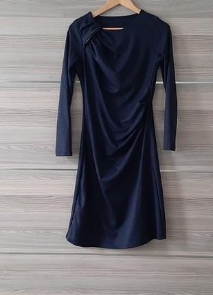 Lacivert Kışlık Elbise