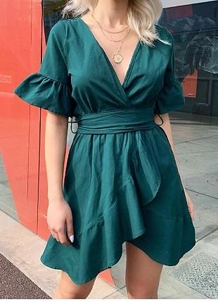 haki yeşili elbise