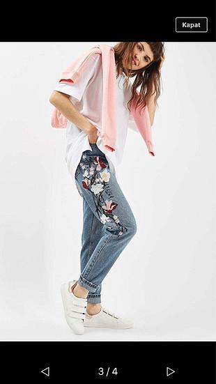 Topshop İşlemeli pantolon