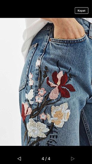 38 Beden İşlemeli pantolon