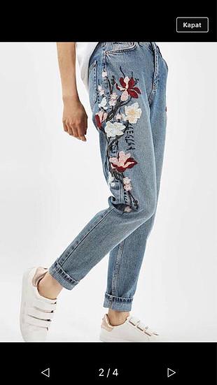 İşlemeli pantolon