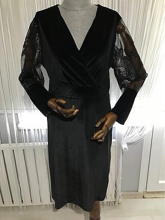 Kadife elbise abiye
