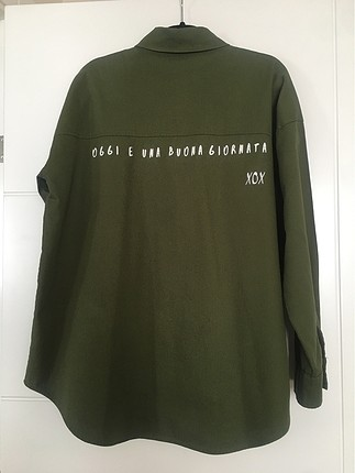 Trenyolmilla Haki yeşil oversize gömlek