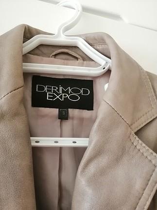 s Beden Derimod bej rengi sıfır ayarında belden kemerli ceket