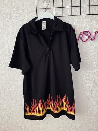 Unisex alevli tişört yurtdışı ürünü