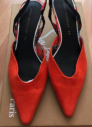 36 Beden turuncu Renk Turuncu stiletto