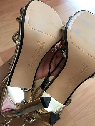 38 Beden İnce topuklu dore abiye ayakkabı