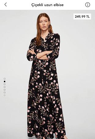 Zara Çiçekli etiketli Mango elbise
