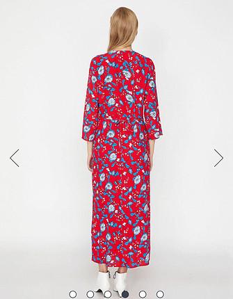 Koton Koton günlük uzun kırmızı elbise