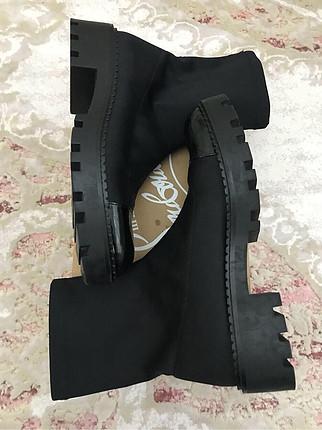 Zara siyah çorap bot