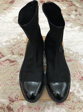 39 Beden Zara siyah çorap bot