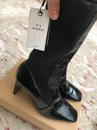 Zara Zara etiketli deri çizme