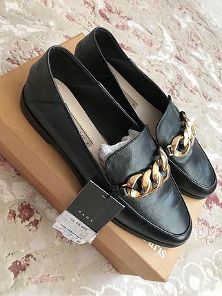 38 Beden Zara loafer ayakkabı