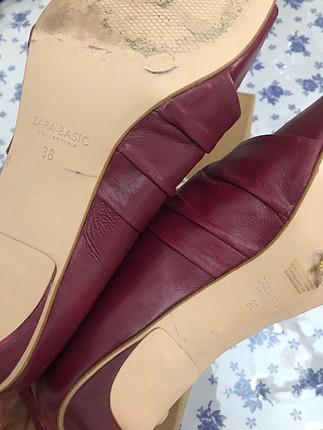 38 Beden bordo Renk Zara ayakkabı