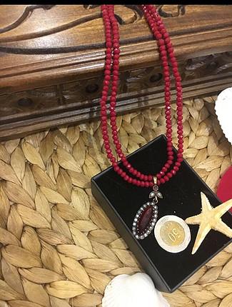 Mercan gümüş kolye