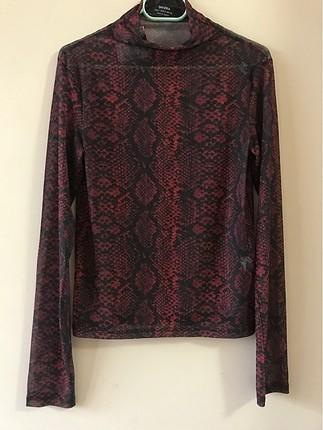 Siyah&kırmızı transparan bluz