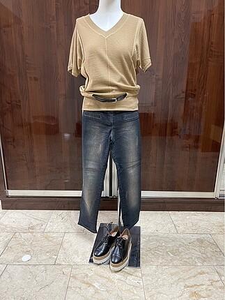 (Son fiyat) Fabrika marka triko, yanında jean pantolon bediye. İ
