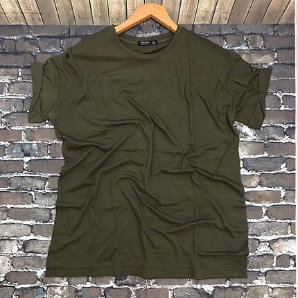 s Beden haki Renk Şık ve havalı bayan tişört #oversize #cool#tişört