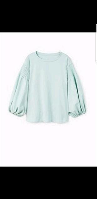 su yeşili bluz