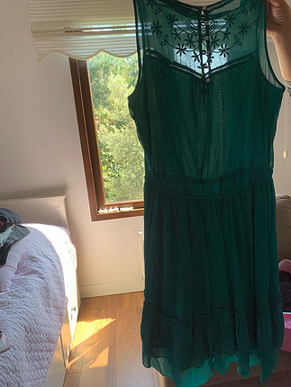 Zara yeşil elbise