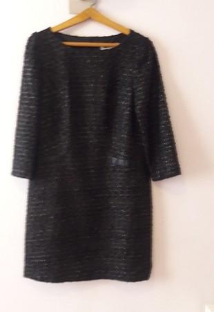 Ipekyol Simli Deri Cep Detaylı Elbise 38-40