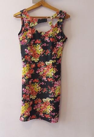 Miss Selens 36 Beden Çiçek Desenli Elbise