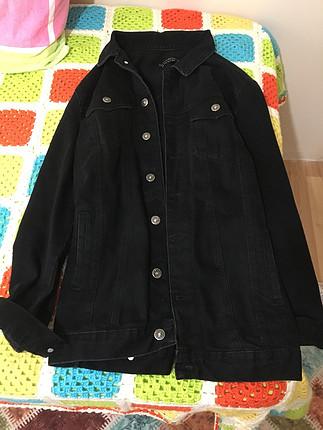 Siyah uzun kot ceket