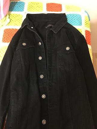 Zara Siyah uzun kot ceket