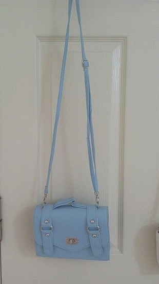 diğer Beden mavi ve beyaz çanta