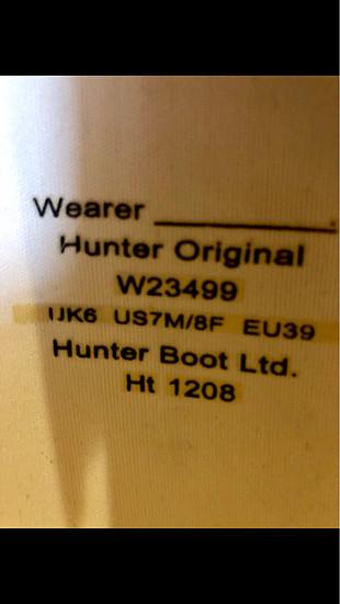 Beyaz Hunter Cizme