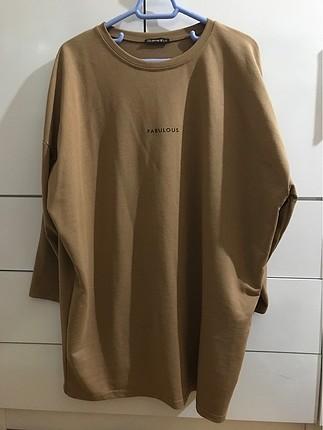 Camel rengi sweatshirt