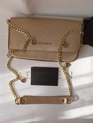 universal Beden altın Renk beymen çanta