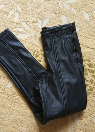 İçi polarlı suni deri tayt pantolon