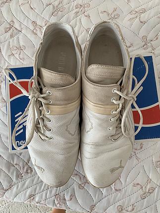 Erkek beyaz puma ayakkabı 42.5 numara