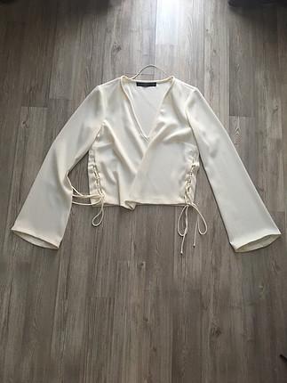Zara crop model bluz
