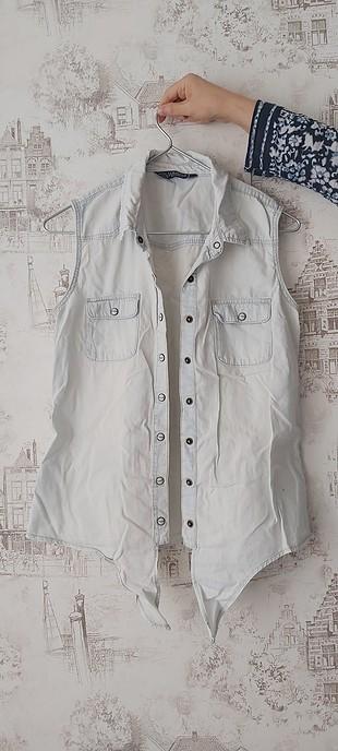 LC WAIKIKI Sıfır kollu kot gömlek